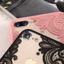 Load image into Gallery viewer, Sexy Fashion Floral Pink Black White Red Lace Soft Silicone Designer iPhone Case For iPhone X XS XS Max XR - Casememe.com