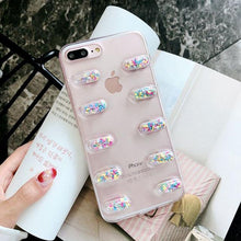 Load image into Gallery viewer, Cute 3D Capsule Pills Transparent Silicone Airbag iPhone Case For iPhone X  XS  XS Max XR - Casememe.com