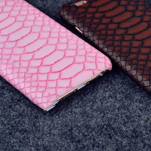 MORE COLORS Luxury Fashion Crocodile Leather Protective Designer iPhone Case For iPhone 5 5S SE 6 6S 7 8 Plus X XR XS Max Hard Plastic Protective Phone Back Cover Gift - Casememe.com