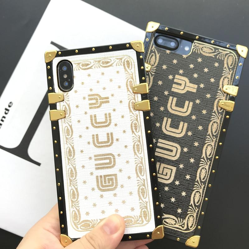 sneakers for cheap add5f 32eff Luxury Gucci Style Guccy Vintage Trunk Box Fashion Silicone Designer iPhone  Case For iPhone X XS XR XS Max