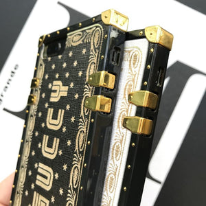 Luxury Gucci Style Guccy Vintage Trunk Box Fashion Silicone Designer iPhone Case For iPhone X XS XR XS Max - Casememe.com