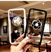 Load image into Gallery viewer, Luxury Pearl Flower Airbag Pop Socket Transparent Case For iPhone SE 11 PRO MAX X / XS / XS Max / XR - Casememe.com