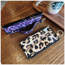 Load image into Gallery viewer, Luxury Fashion Trunk Box Pink Leopard Rose Leather Designer iPhone Case With Strap Wristband For iPhone SE 11 PRO MAX X XS XR XS Max - Casememe.com