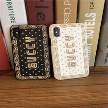 Load image into Gallery viewer, Luxury Gucci Guccy Style Soft Silicone Shockproof Designer iPhone Case For iPhone X XS XR XS Max - Casememe.com