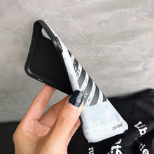 Load image into Gallery viewer, Fashion Sport Off White Style Stripe Silicone Protective Bumper Designer iPhone Case For iPhone X XS XS Max XR - Casememe.com