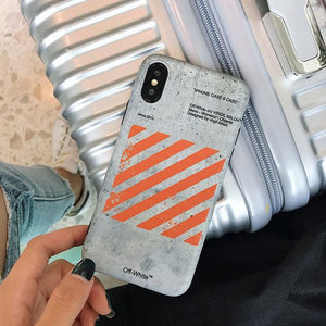 Fashion Sport Off White Style Stripe Silicone Protective Bumper Designer iPhone Case For iPhone X XS XS Max XR - Casememe.com
