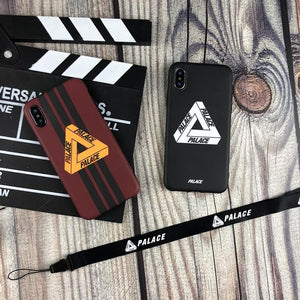 09c41261f6c6 PALACE Style Stripe Street Fashion Silicone Designer iPhone Case With  Lanyard For iPhone X XS XS Max XR 7 8 Plus