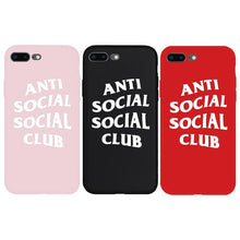 Load image into Gallery viewer, Street Fashion ASSC Anti Social Club Style Soft Silicone Luxury Designer iPhone Case For iPhone SE 11 PRO MAX X XS XS Max XR - Casememe.com