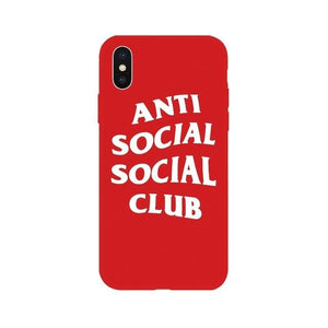 Street Fashion ASSC Anti Social Club Style Soft Silicone Luxury Designer iPhone Case For iPhone SE 11 PRO MAX X XS XS Max XR - Casememe.com