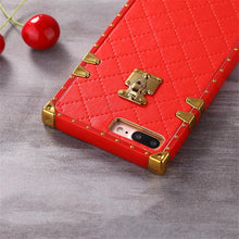 Load image into Gallery viewer, Luxury Golden Vintage Perfume Trunk Fashion Leather Designer iPhone Cases For iPhone SE 11 PRO MAX X XS XS Max XR - Casememe.com