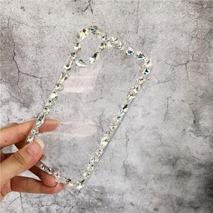 Rhinestone Luxury Crystal Diamond Clear Shockproof Designer iPhone Case For iPhone X  XS  XS Max XR - Casememe.com