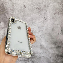 Load image into Gallery viewer, Rhinestone Luxury Crystal Diamond Clear Shockproof Designer iPhone Case For iPhone X  XS  XS Max XR - Casememe.com