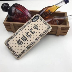 Luxury Gucci Guccy Style Soft Silicone Shockproof Designer iPhone Case For iPhone X XS XR XS Max - Casememe.com