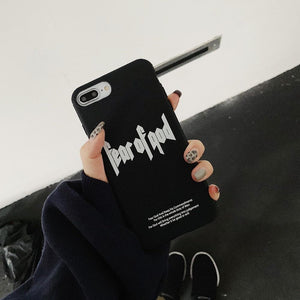 FEAR OF GOD Style Fashion Luxury Street Silicone TPU Designer iPhone Case For iPhone X XS XS Max XR 7 8 Plus - Casememe.com