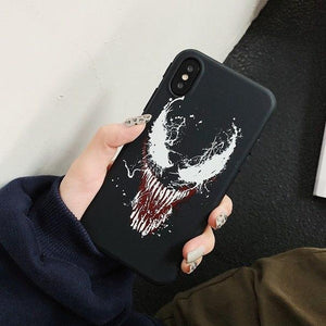 Edgy Dark Venom Marvel Style Soft Silicone Shockproof Designer iPhone Case For iPhone X XS XS Max XR - Casememe.com
