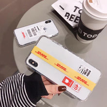 Load image into Gallery viewer, Trendy Luxury Vetement DHL Street Fashion Transparent Designer iPhone Case For iPhone X XS XR XS Max