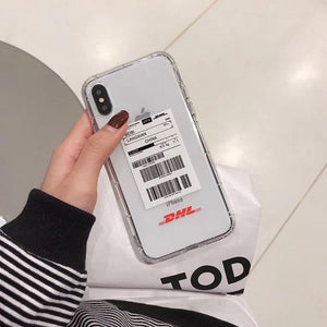 Trendy Luxury Vetement DHL Street Fashion Transparent Designer iPhone Case For iPhone SE 11 PRO MAX X XS XR XS Max - Casememe.com