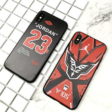 Load image into Gallery viewer, NBA Air Jordan 23 Style Street Fashion Matte Soft Silicone Designer iPhone Case For iPhone X XS XS Max XR 7 8 Plus - Casememe.com