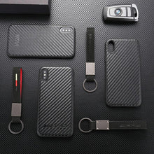 Load image into Gallery viewer, Carbon fibers Super Car AMG BMW M Shockproof Bumper Case with Lanyard and Keychain for iPhone 12 SE 11 PRO MAX 7 7plus 8 8plus X XR XS Max - Casememe.com