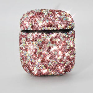 Glitter Luxury Diamond AirPods 100% Handmade Protective Shockproof Case Cove For Apple Airpods 1 & 2 - Casememe.com