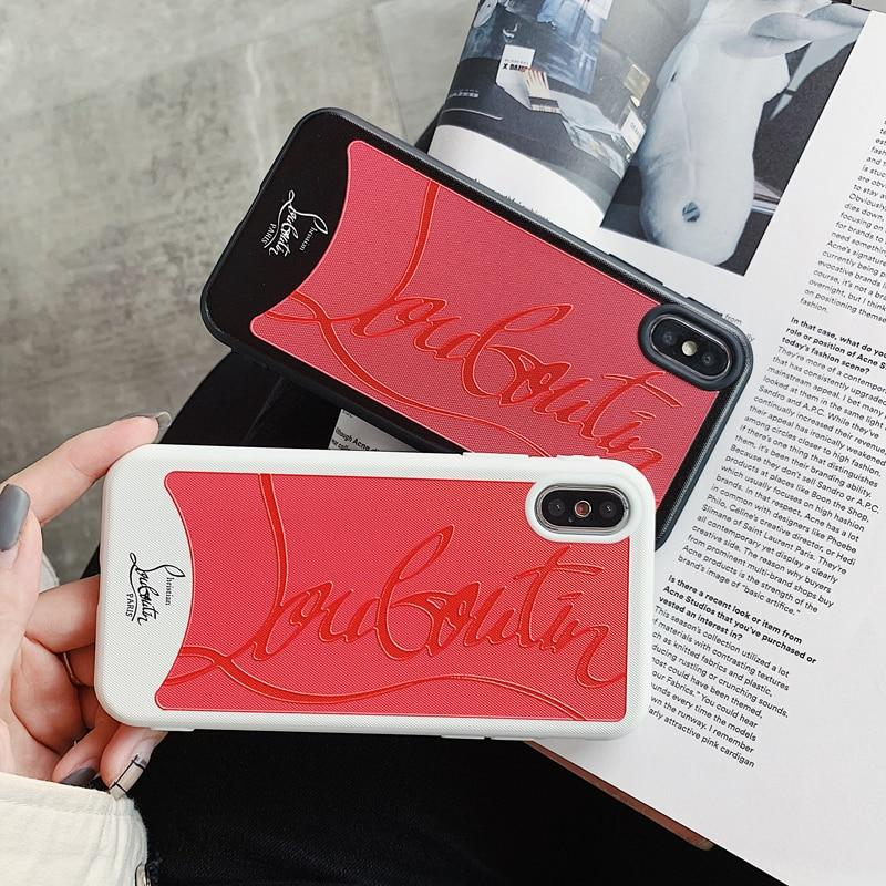 100% authentique 61538 8a981 Christian Louboutin Style Red Silicone Bumper Luxury Designer iPhone Case  For iPhone X XS XS Max XR