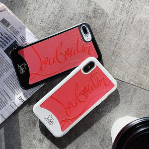 Christian Louboutin Style Red Silicone Bumper Luxury Designer iPhone Case For iPhone 11 pro max 11 pro 11X XS Max XR - Casememe.com