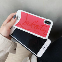 Load image into Gallery viewer, Christian Louboutin Style Red Silicone Bumper Luxury Designer iPhone Case For iPhone SE 11 pro max 11 pro 11X XS Max XR - Casememe.com