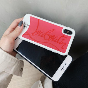 Christian Louboutin Style Red Silicone Bumper Luxury Designer iPhone Case For iPhone X XS XS Max XR - Casememe.com