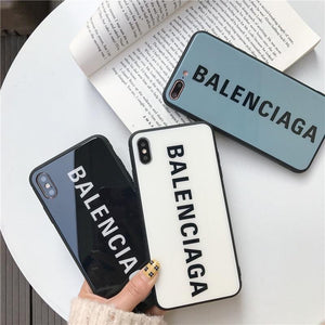 Best Stylish Balenciaga Paris Sports Tempered Glass Designer iPhone Case For iPhone X / XS / XS Max / XR - Casememe.com