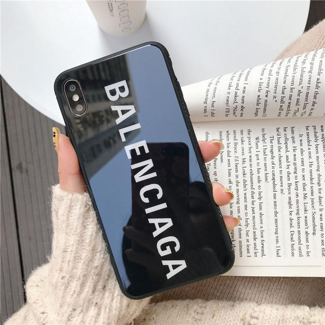 wholesale dealer 3f271 e1dad Best Stylish Balenciaga Paris Sports Tempered Glass Designer iPhone Case  For iPhone X / XS / XS Max / XR