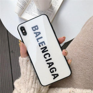 Best Stylish Balenciaga Paris Sports Tempered Glass Designer iPhone Case For iPhone SE 11 Pro Max X XS Max XR 7 8 Plus - Casememe.com