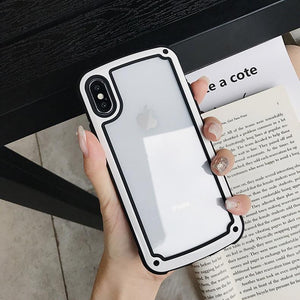 Military Standard Transparent Clear Ultimate Shockproof Airbag Corners Bumper Frame Case For iPhone X XS Max XR 8 7 Plus - Casememe.com
