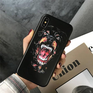 Givenchy Style Luxury Shark Bambi Dog Soft Silicone Designer iPhone Case For iPhone X XS XS Max XR 7 8 Plus - Casememe.com