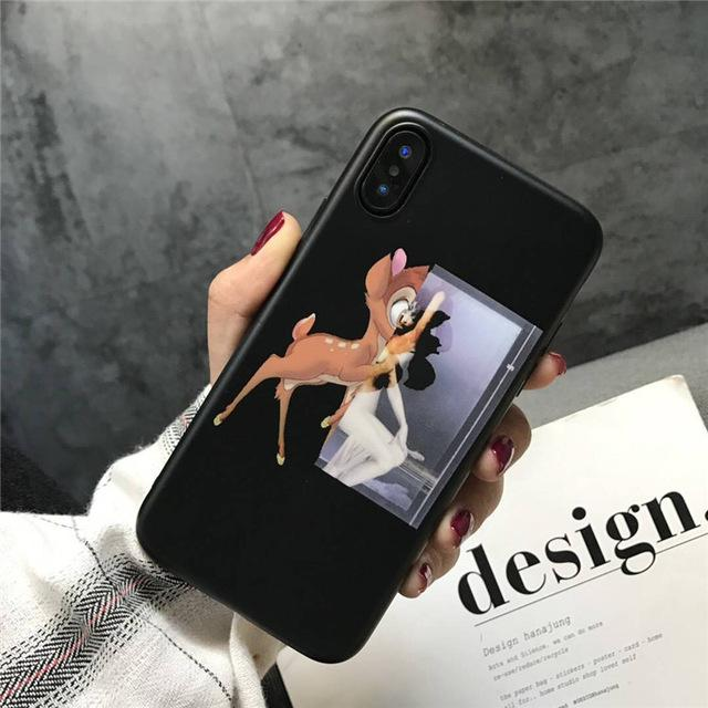 on sale ff642 51ea2 Givenchy Style Luxury Shark Bambi Dog Soft Silicone Designer iPhone Case  For iPhone X XS XS Max XR 7 8 Plus