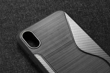 Load image into Gallery viewer, Best Military Grade Drop Tested Carbon Fiber Frame Silicone Shockproof iPhone Case For iPhone X XS XS Max XR - Casememe.com