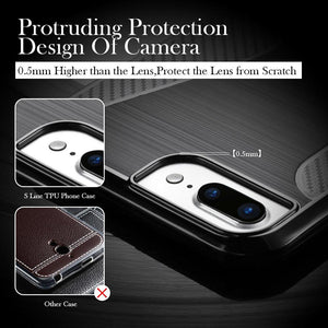 Best Military Grade Drop Tested Carbon Fiber Frame Silicone Shockproof iPhone Case For iPhone X XS XS Max XR - Casememe.com