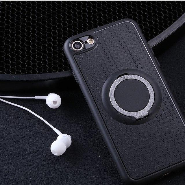 MORE COLORS Modern Car Mount Magnet Soft Silicone Designer iPhone Case With Ring Holder Kickstand For iPhone X XS XS Max XR - Casememe.com