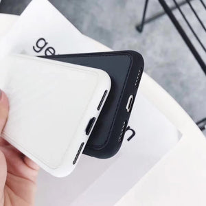 Off White OW Fashion Twill Stripes Leather Soft Silicone Sport Case For iPhone X / XS / XS Max / XR - Casememe.com