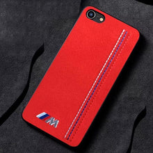 Load image into Gallery viewer, Luxury Motorsport BMW M Series Stitch Alcantara Bumper Ultra Slim Designer iPhone Case For iPhone SE 11 PRO MAX X XS XS Max XR - Casememe.com