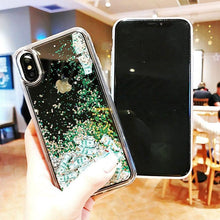 Load image into Gallery viewer, Luxury Fashion Dollar Rain Gold Dynamic Glitter Quicksand Silicone Designer iPhone Case For iPhone X XS XR XS Max - Casememe.com