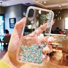 Load image into Gallery viewer, Luxury Fashion Dollar Rain Gold Dynamic Glitter Quicksand Silicone Designer iPhone Case For iPhone SE 11 PRO MAX X XS XR XS Max - Casememe.com
