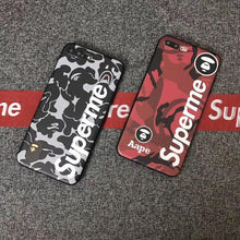 Load image into Gallery viewer, Luxury Supreme Style Red Camo Army Matte Silicone Designer iPhone Case For iPhone SE 11 PRO MAX X XS XS Max XR - Casememe.com