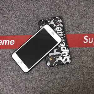 Luxury Supreme Style Red Camo Army Matte Silicone Designer iPhone Case For iPhone X XS XS Max XR - Casememe.com