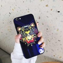 Load image into Gallery viewer, Kenzo Style Luxury Blue Ray Tempered Glass Ultra Slim Designer iPhone Case For iPhone X XS XS Max XR 7 8 Plus - Casememe.com