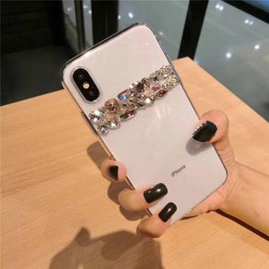 Luxury Shiny Bling Crystal Rhinestone Diamond Soft Silicone Transparent Clear Designer iPhone Case For iPhone X XS XR XS Max - Casememe.com