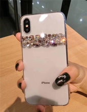 Load image into Gallery viewer, Luxury Shiny Bling Crystal Rhinestone Diamond Soft Silicone Transparent Clear Designer iPhone Case For iPhone X XS XR XS Max - Casememe.com
