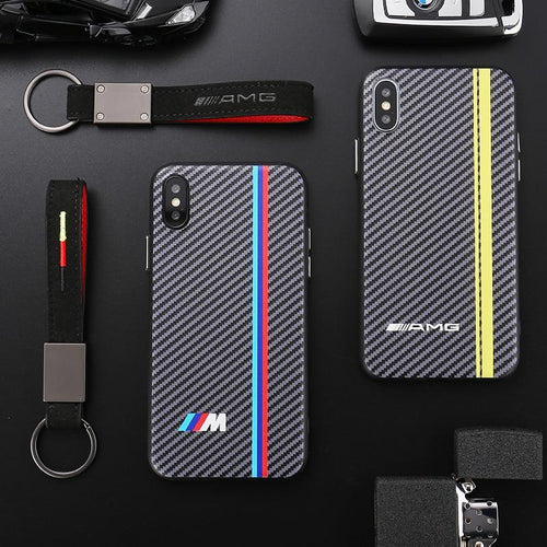 Sports Car AMG RS BMW M Series Carbon Fiber Case For iPhone X / XS / XS Max / XR