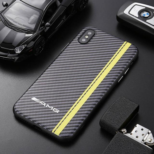 newest 4332b a5e5d Sports Car AMG RS BMW M Series Carbon Fiber Case For iPhone X / XS / XS Max  / XR