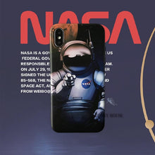 Load image into Gallery viewer, NASA Style USA Street Trendy Astronaut Space Matte Silicone Luxury Designer iPhone Case For iPhone X XS XS Max XR 7 8 Plus - Casememe.com