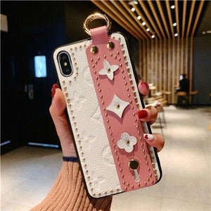 Luxury Style Paris Leather Kickstand Ring Holder Shockproof Protective Designer iPhone 12 Case For iPhone SE 11 Pro Max X XS Max XR 7 8 Plus - Casememe.com